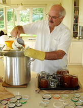 Russell making marmalade